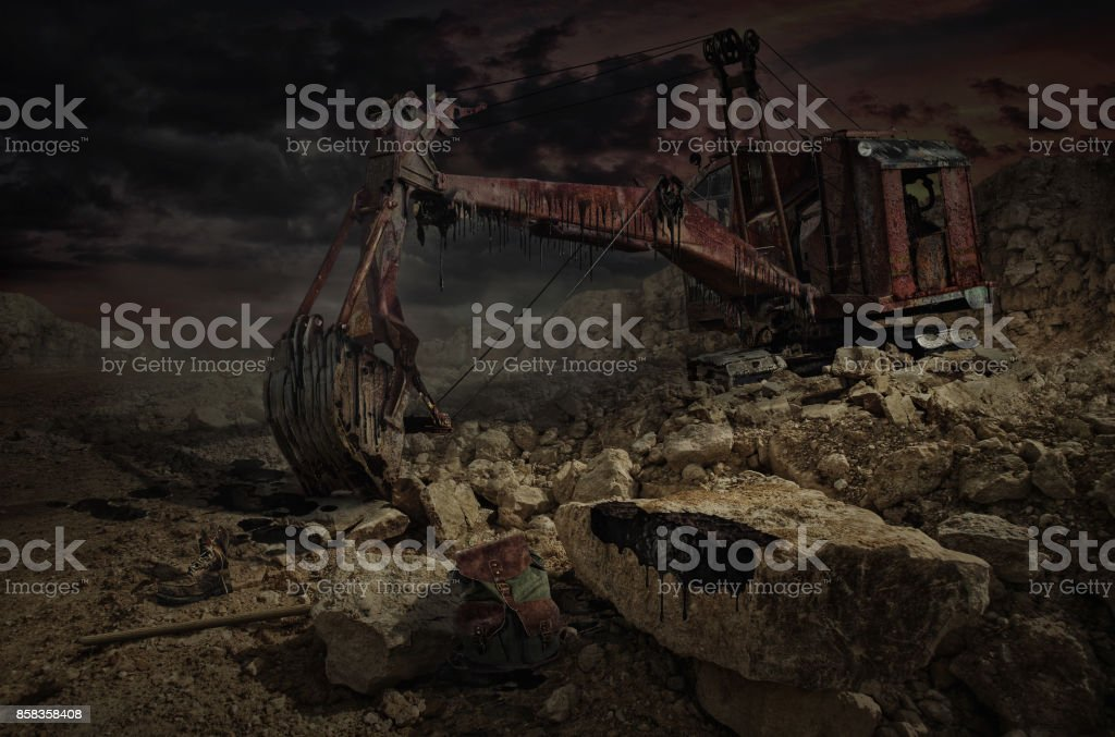 Stalker Zone (It's all over...) stock photo