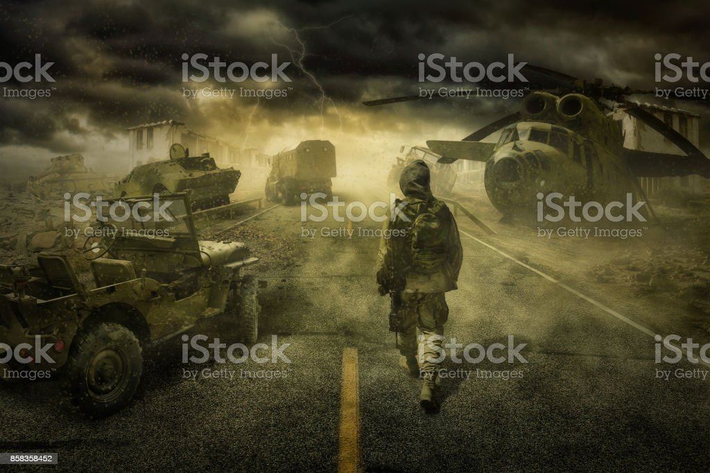 Stalker Zone (No one) stock photo