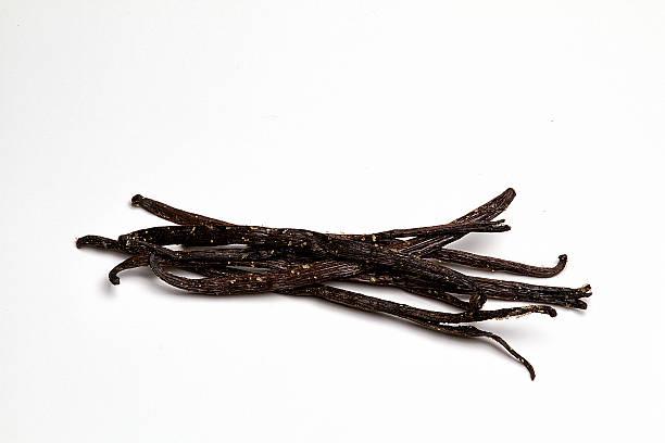Stalks of Vanilla Bourbon freshly picked stock photo