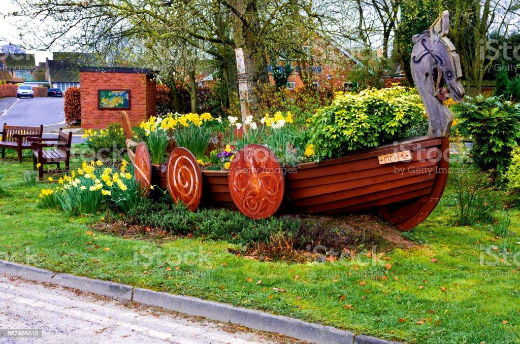 Stamford Bridge Viking Boat stock photo