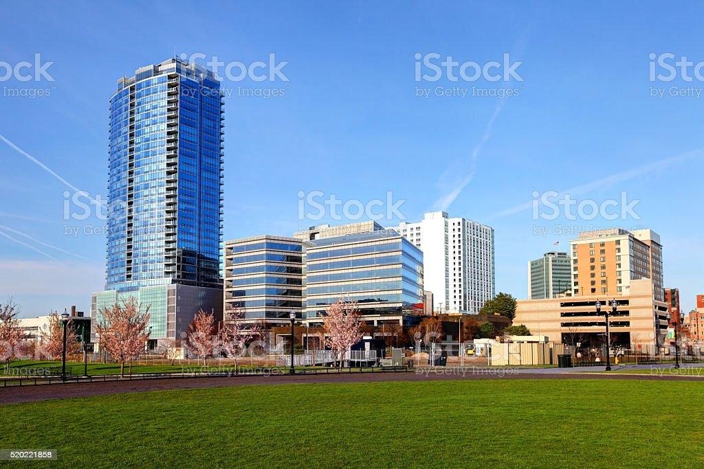 Stamford, Connecticut Skyline stock photo
