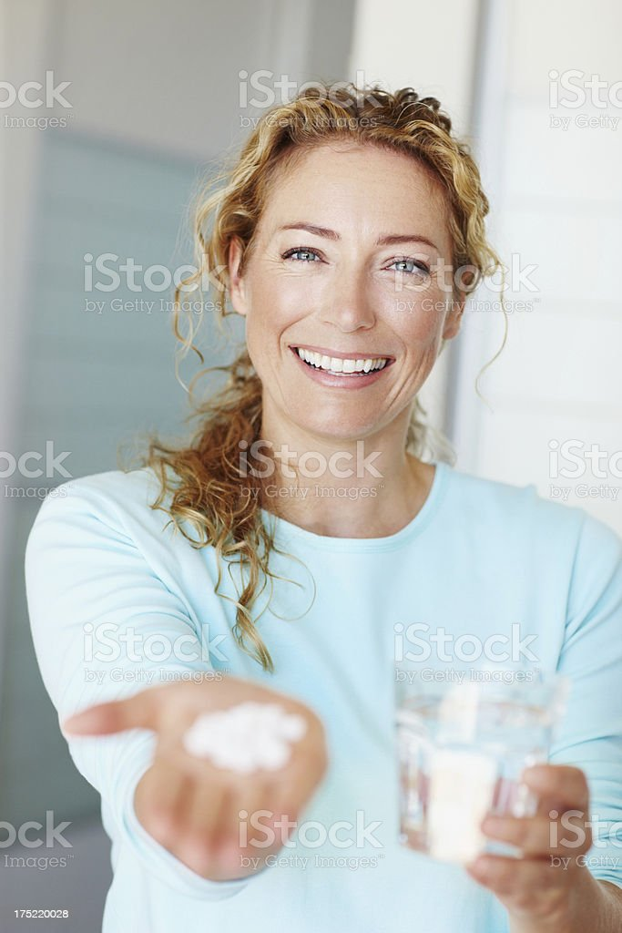 Stamina and stength! - Vitamins & Supplements stock photo