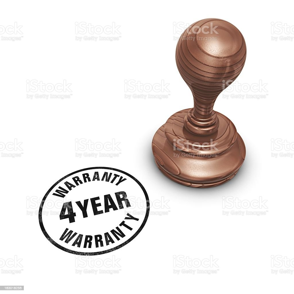 stamp 4 year warranty royalty-free stock photo