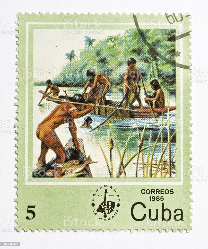 Stamp from Cuba royalty-free stock photo