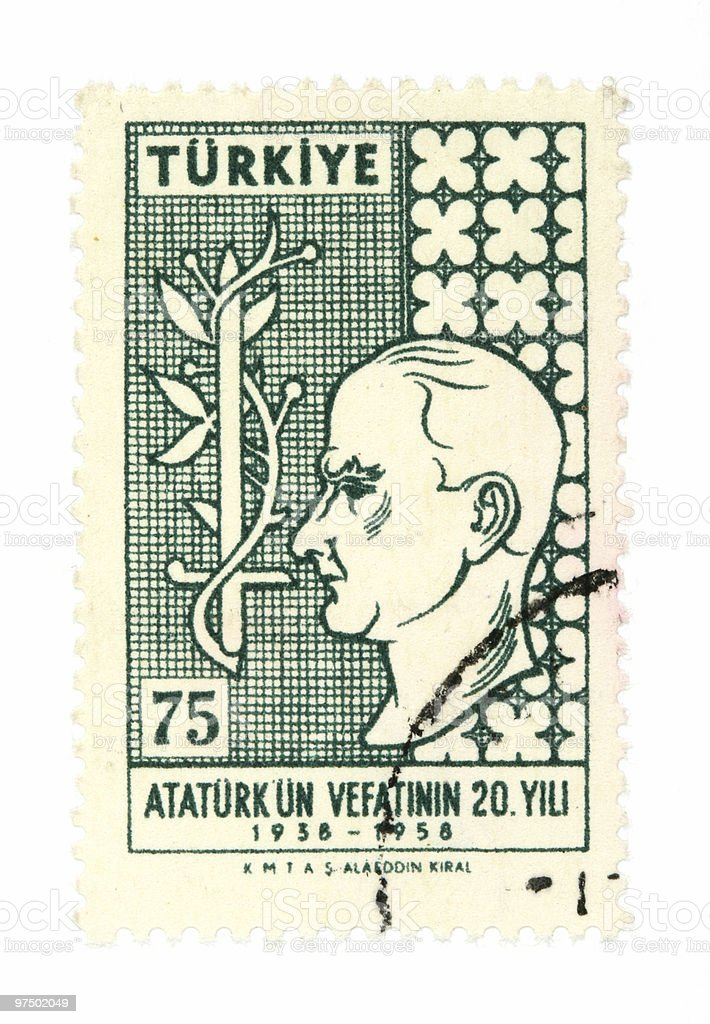 Stamp from Turkey royalty-free stock photo
