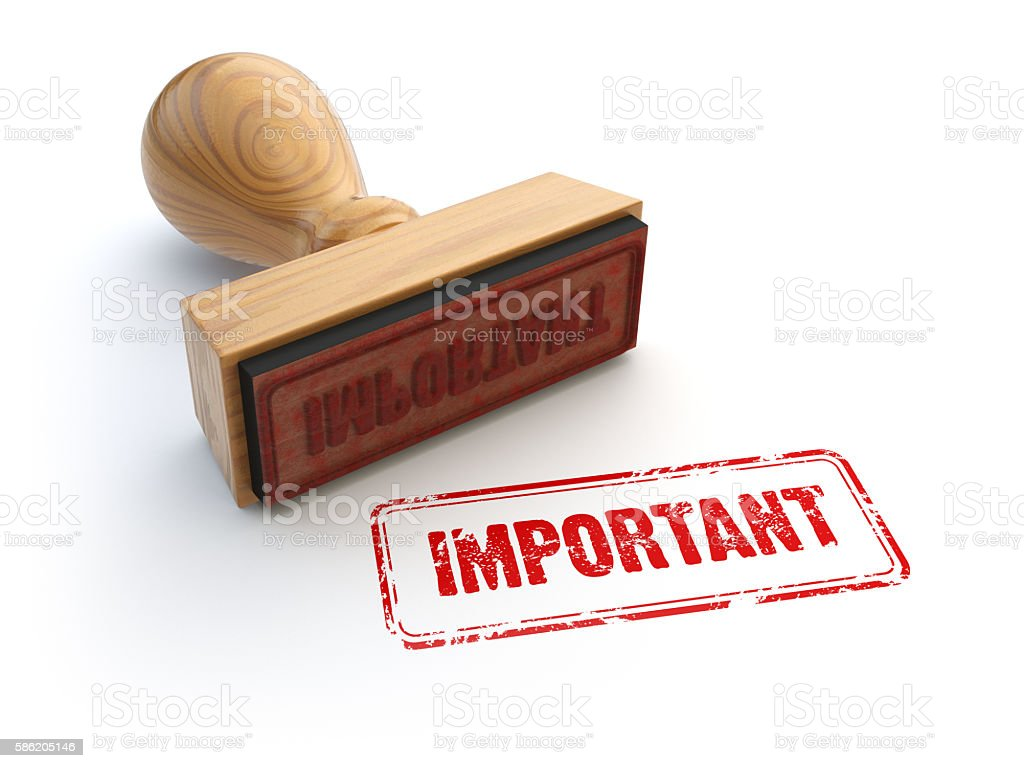 Stamp Important isolated on white. Confidential information stock photo