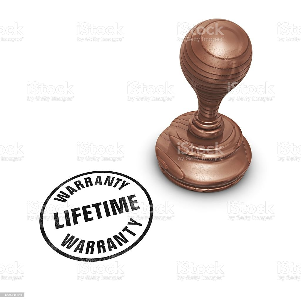 stamp lifetime warranty royalty-free stock photo