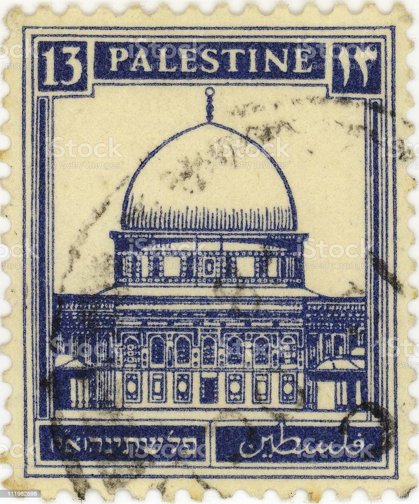 Stamp of Palestine royalty-free stock photo