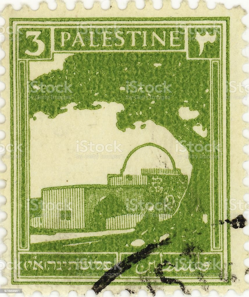 Stamp of Palestine royalty-free stock photo
