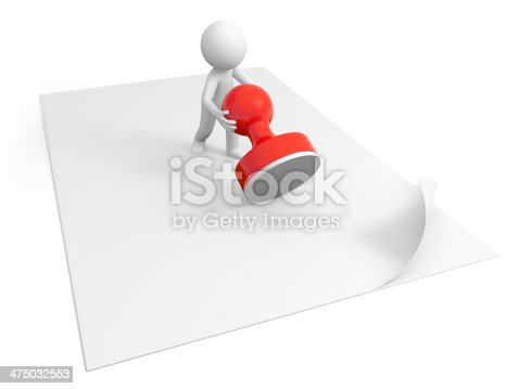 474551486istockphoto Stamp on paper 475032553