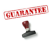 Word GUARANTEE Stamp on White Background.