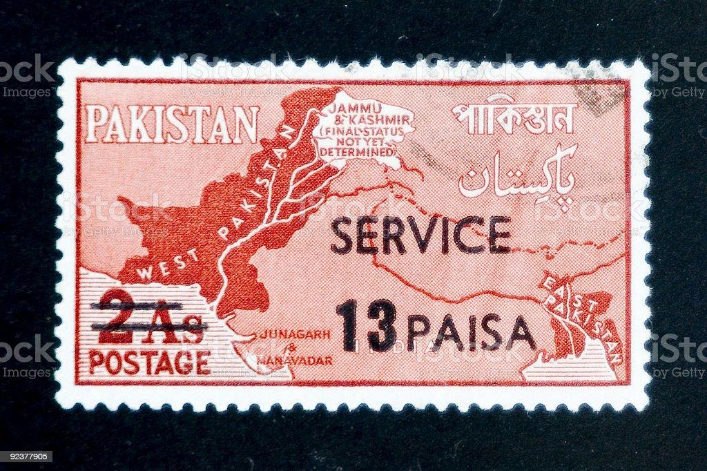 Stamp - Pakistan royalty-free stock photo
