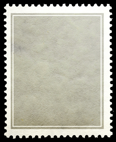 Stamp paper gray background.