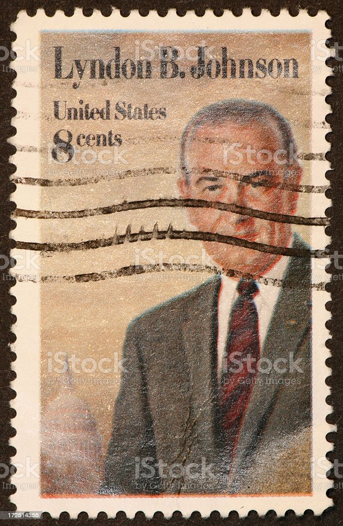 LBJ stamp royalty-free stock photo