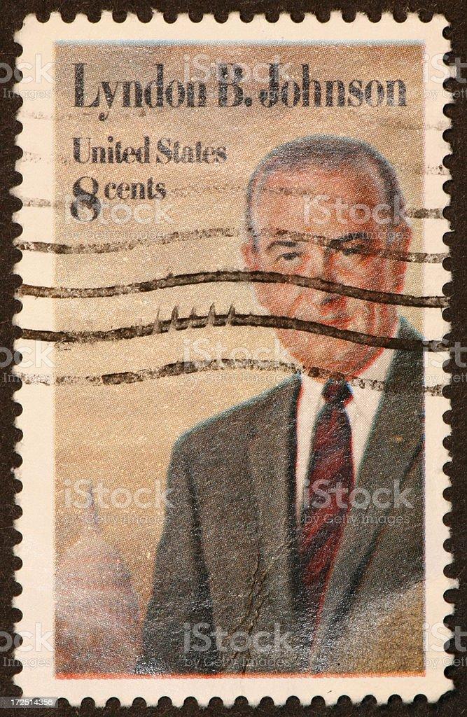LBJ stamp stock photo