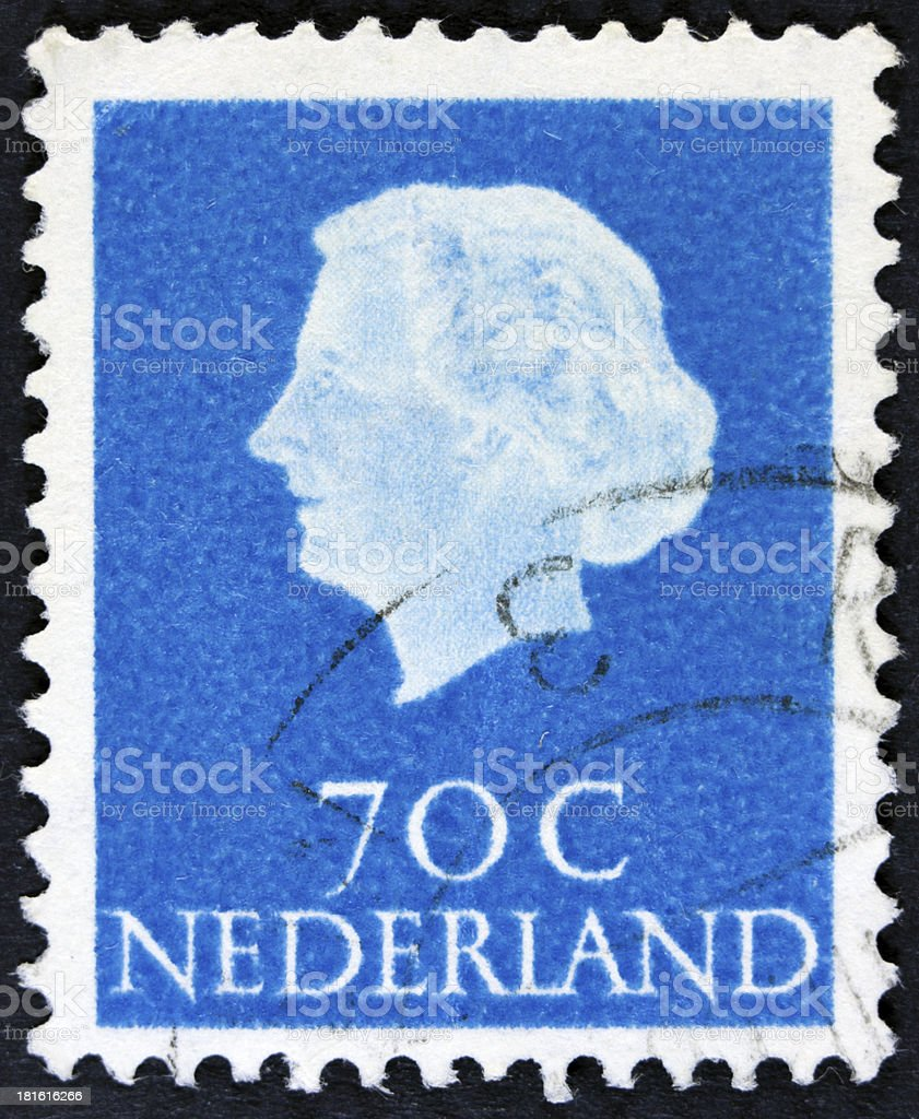 Stamp Portrait of a queen royalty-free stock photo