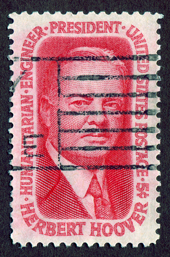 USA Stamp: shows The 31st President of the United States of America Herbert Hoover(1874-1964)