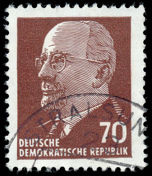 stamp shows  walter ulbricht the leader of east germany - oost duitsland stockfoto's en -beelden