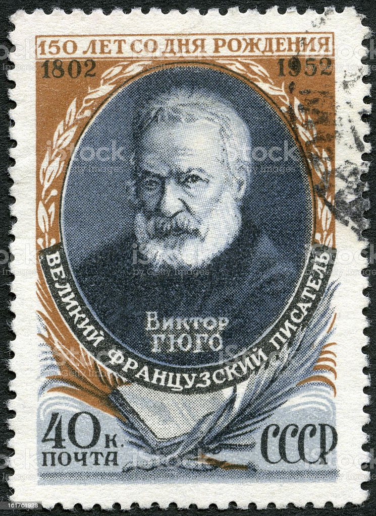 Stamp USSR 1952 Victor Hugo (1802-1855), French Writer royalty-free stock photo