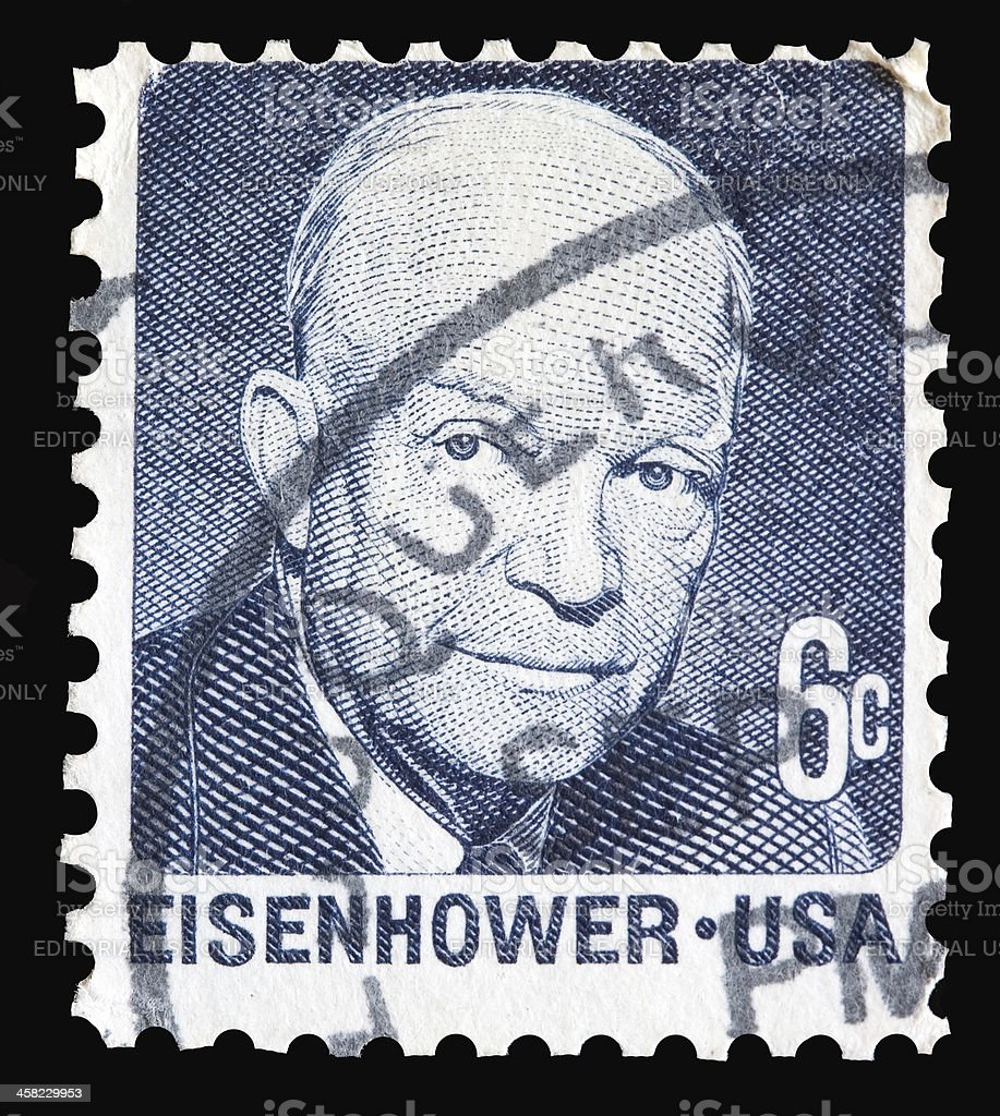 USA stamp with Eisenhower picture stock photo