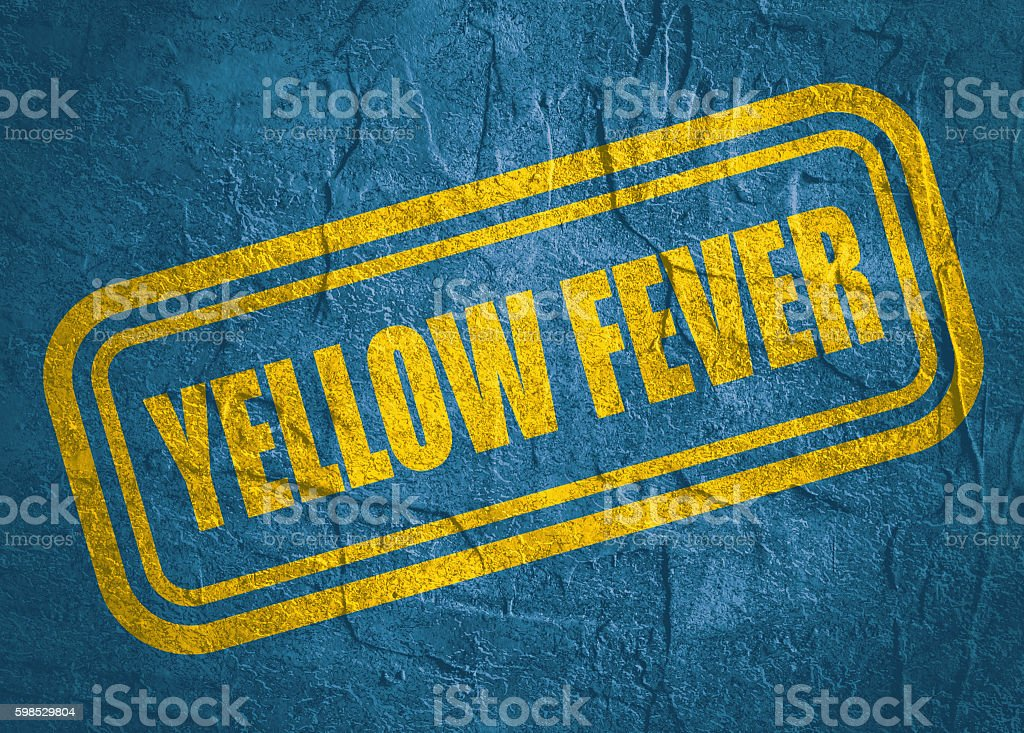 stamp with Yellow Fever text over grunge background stock photo