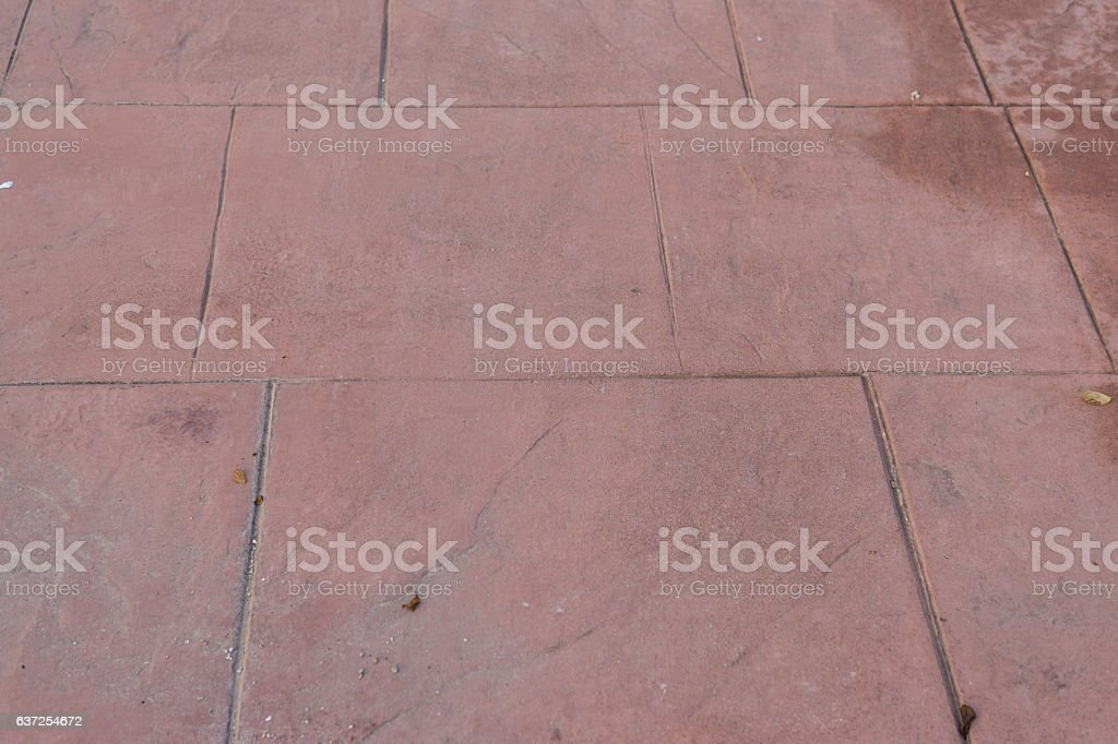 Stamped concrete floor outdoor pavements appearance of natural stone stock photo