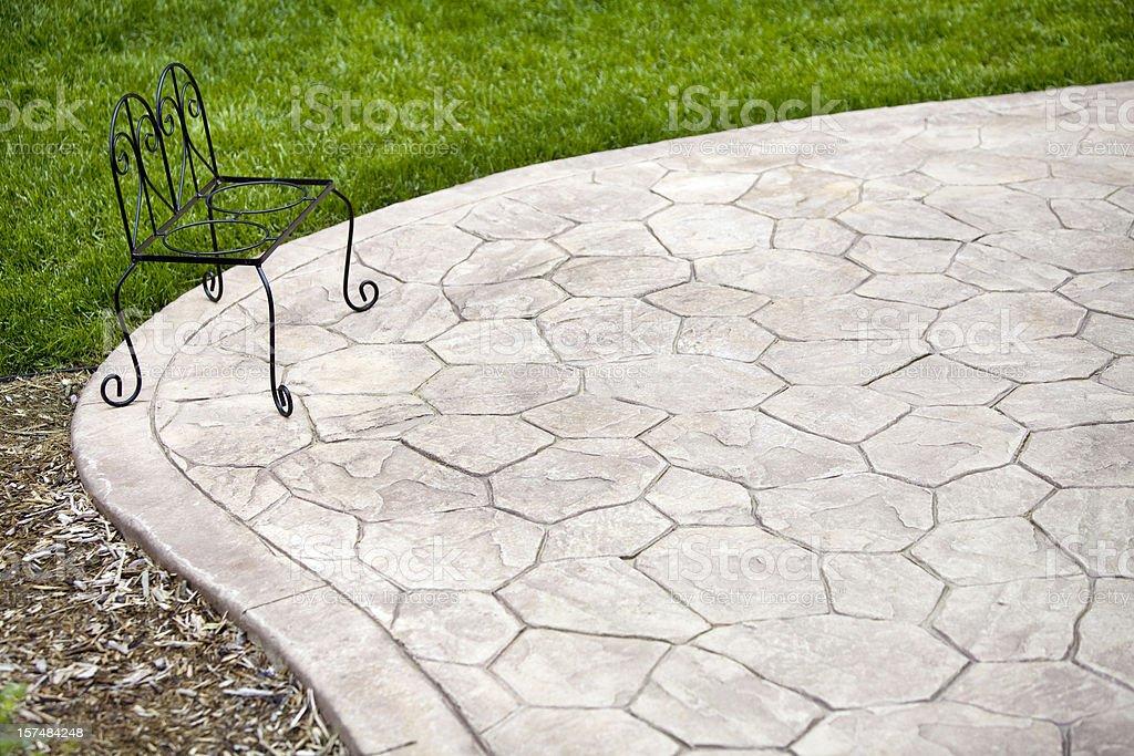 Stamped Concrete Patio stock photo