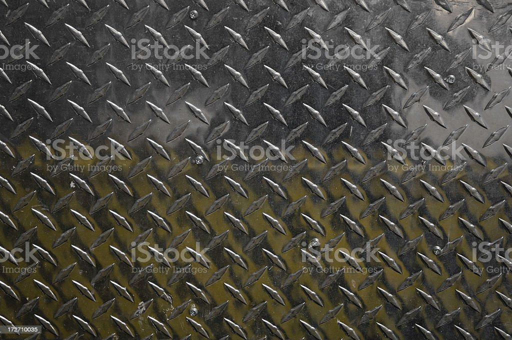 Stamped, diamond  metal plate royalty-free stock photo
