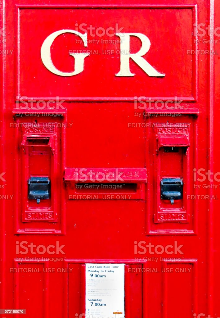 Stamps and mail stock photo