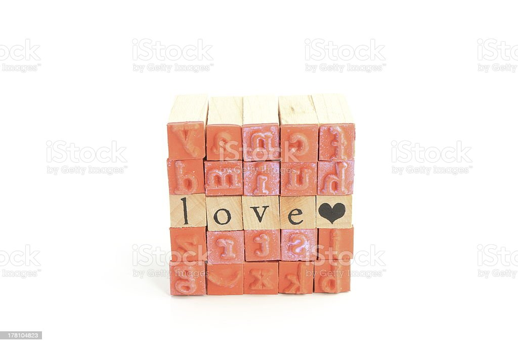 Stamps cube royalty-free stock photo