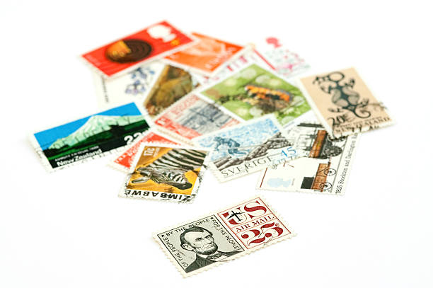 stamps stock photo