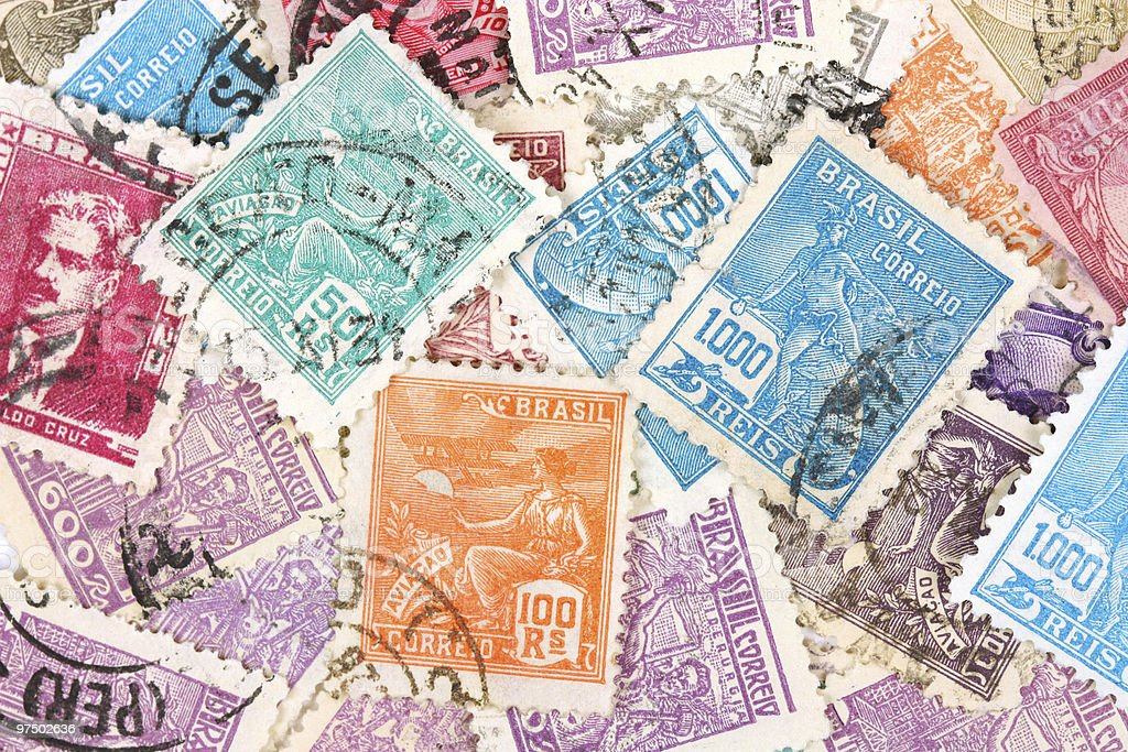Stamps royalty-free stock photo