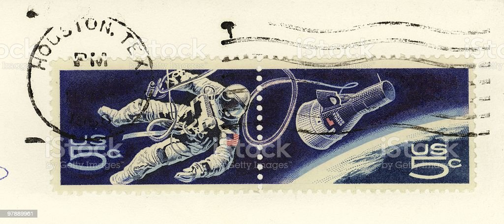 Stamps - Space Walk royalty-free stock photo