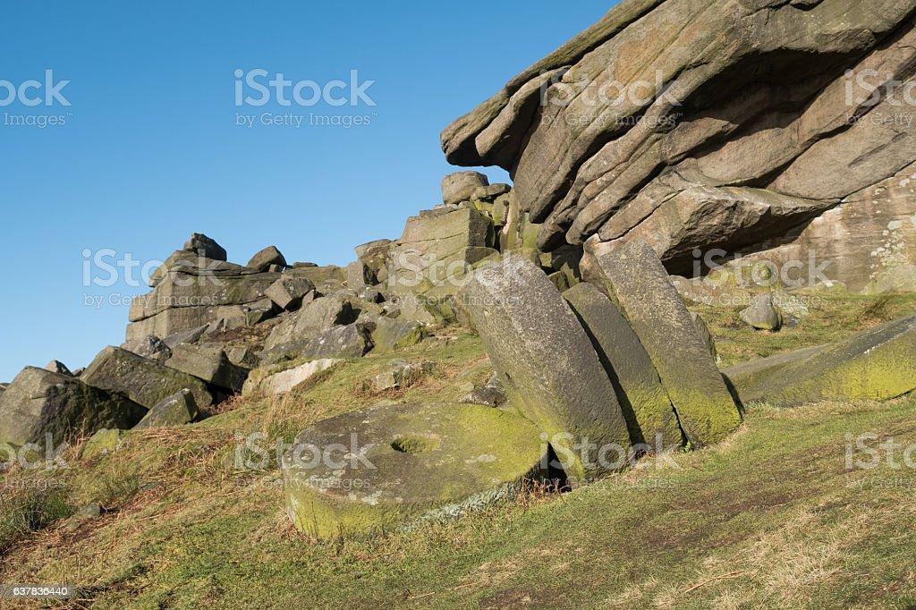 Stanage Edge, Derbyshire, UK stock photo