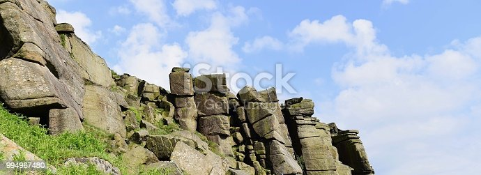Stanage is a gritstone escarpment in the Peak District, England