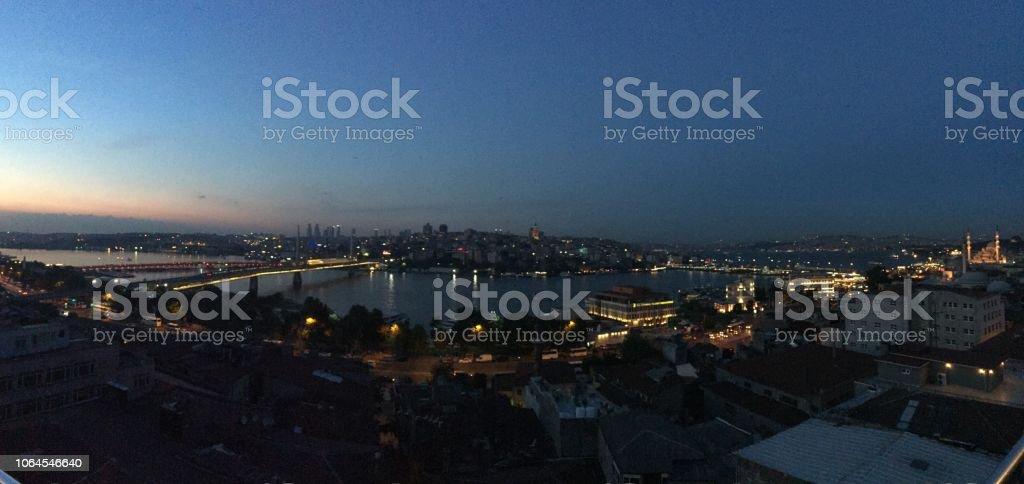 İstanbul silhouette stock photo