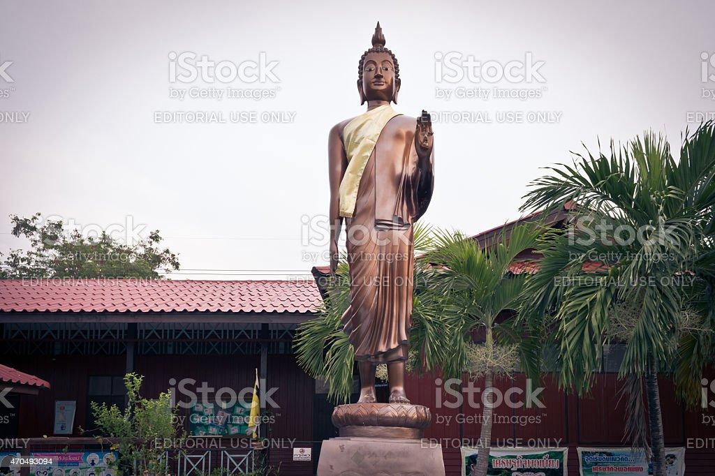 Stand Buddha at Ngiurai School stock photo