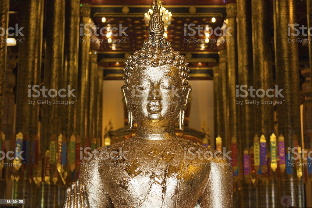 Stand Buddha Statue in Thailand royalty-free stock photo