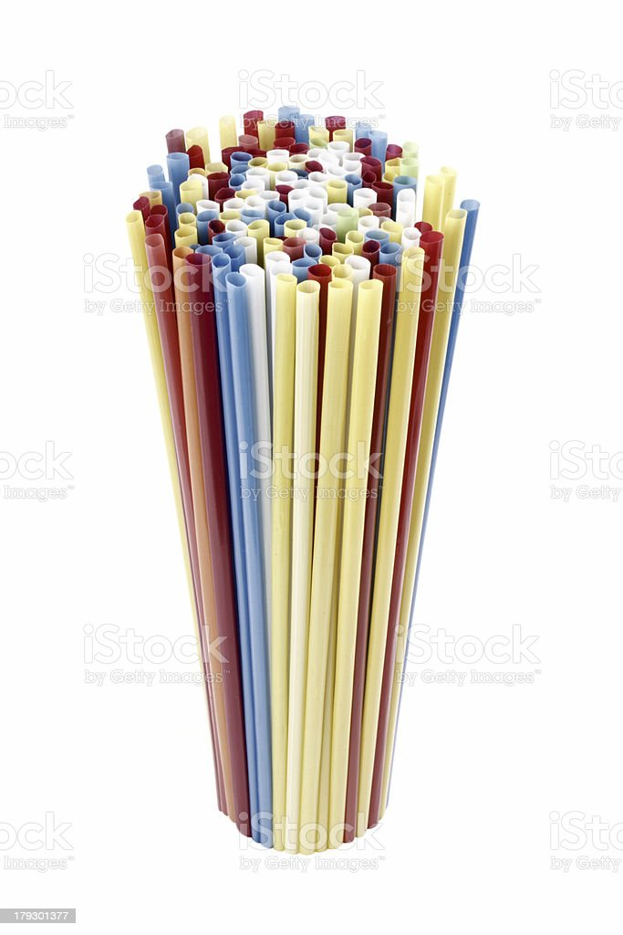 Stand drinking straws royalty-free stock photo