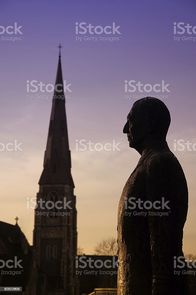 Stand in Faith stock photo