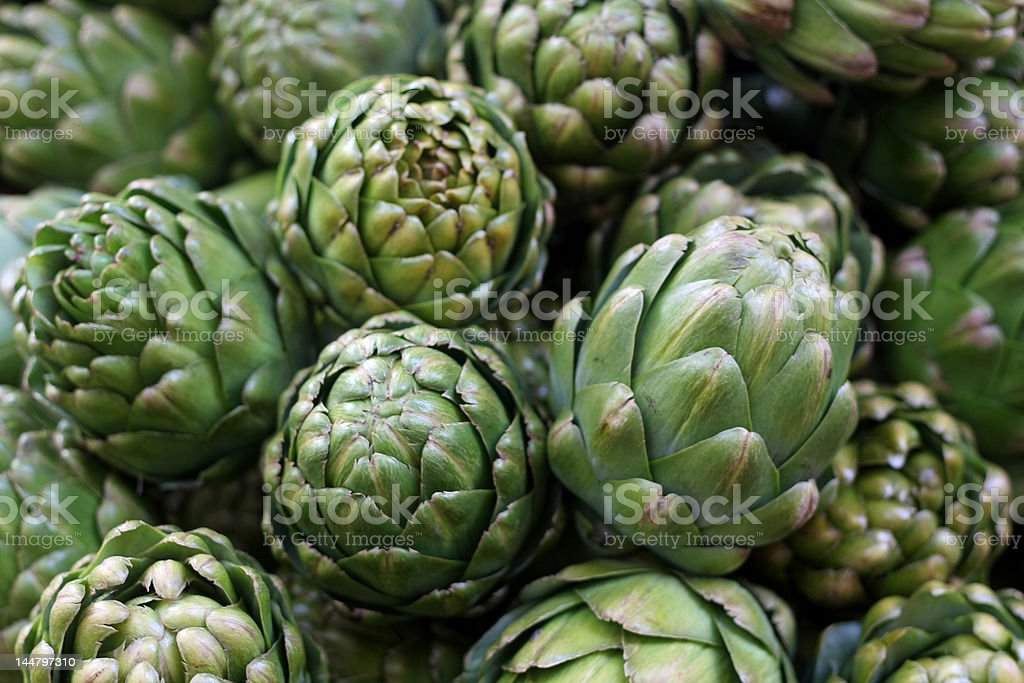 Stand of Artichokes stock photo