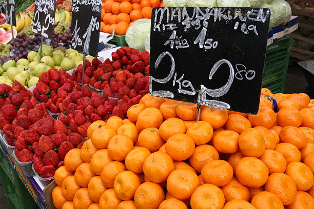 Stand of fruits at market in Vienna, called