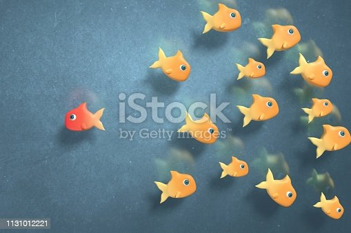 628616360 istock photo Stand out and be Against the flow 1131012221