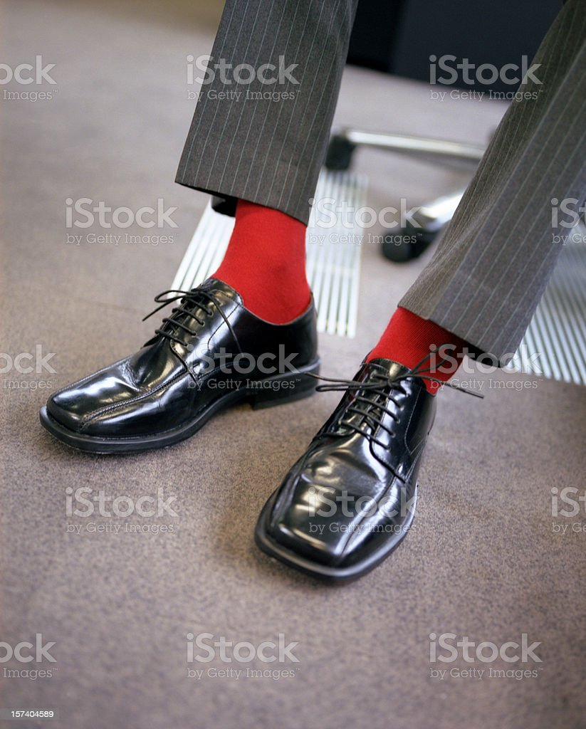 Stand out from the business crowd stock photo