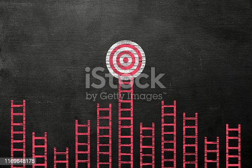 938669816 istock photo Stand out from the crowd and different creative idea concepts on blackboard 1169648175