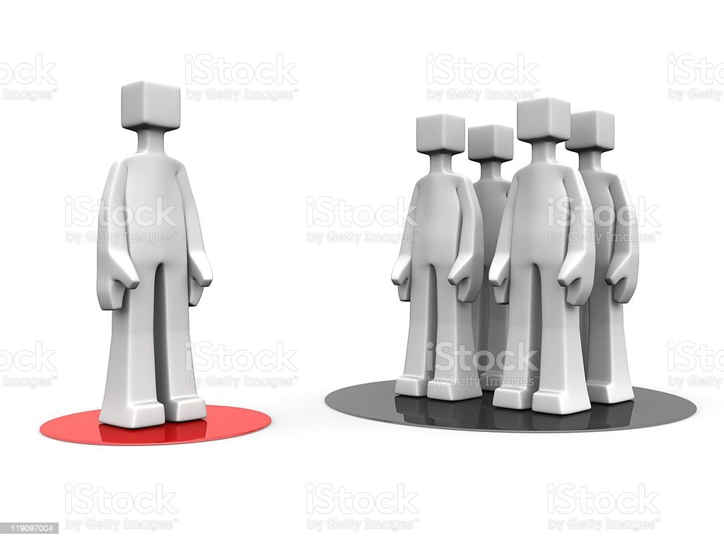 Stand out from the crowd concept royalty-free stock photo