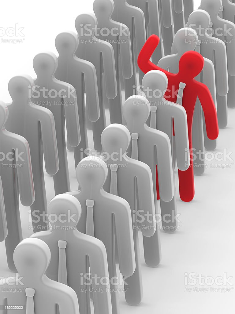 Stand out in the crowd royalty-free stock photo