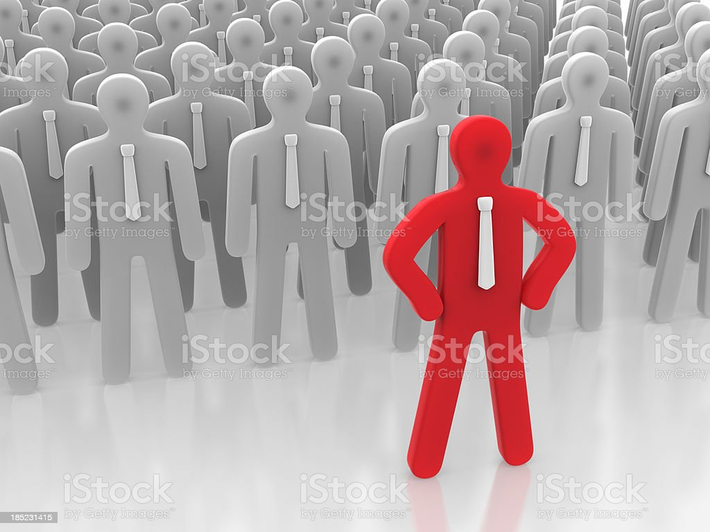 Stand out in the crowd stock photo