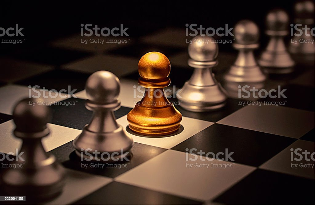 Stand out of a crowd  individuality concept Odd Chess Piece Stand out of a crowd  individuality concept Odd Chess Piece Abstract Stock Photo