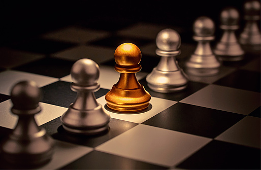 Stand Out Of A Crowd Individuality Concept Odd Chess Piece Stock Photo - Download Image Now
